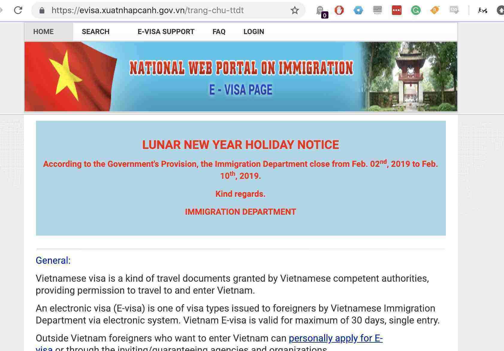 Vietnam Embassy Site