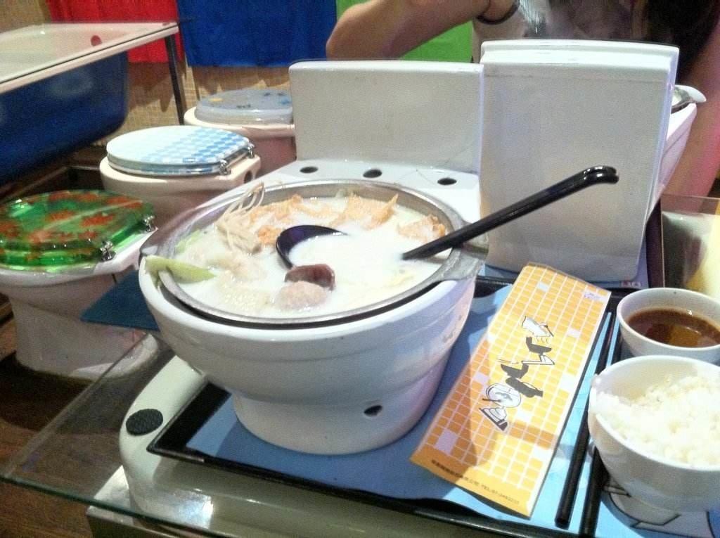 Yum Toilet shaped bowl