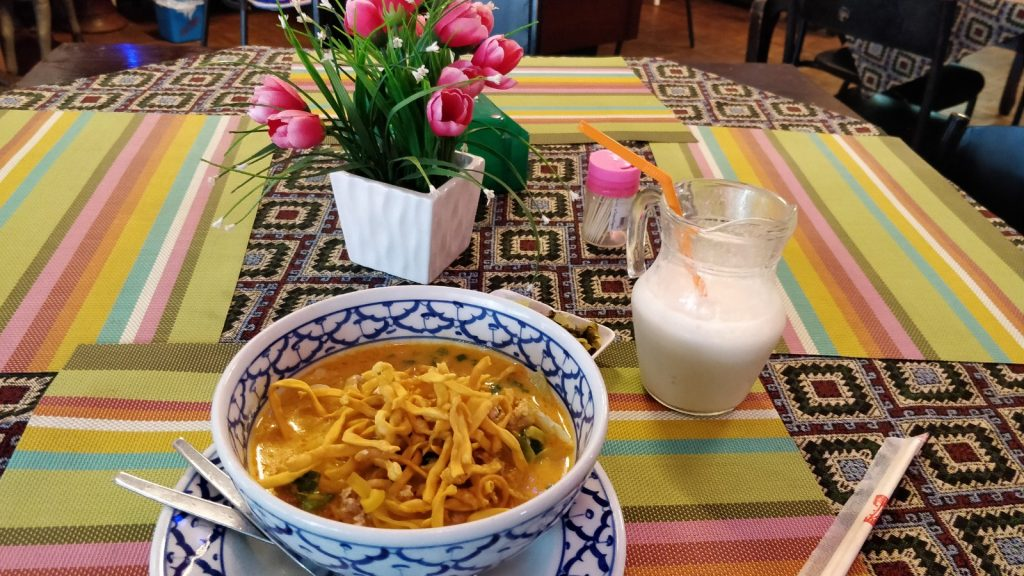 Khao Soi and drink