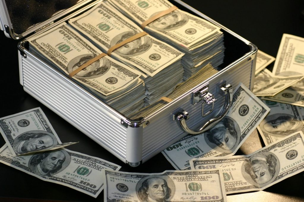 Box full of cash